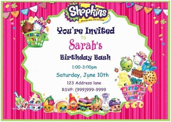 Shopkins Party Invitations Best 25 Shopkins Invitations Ideas On Pinterest