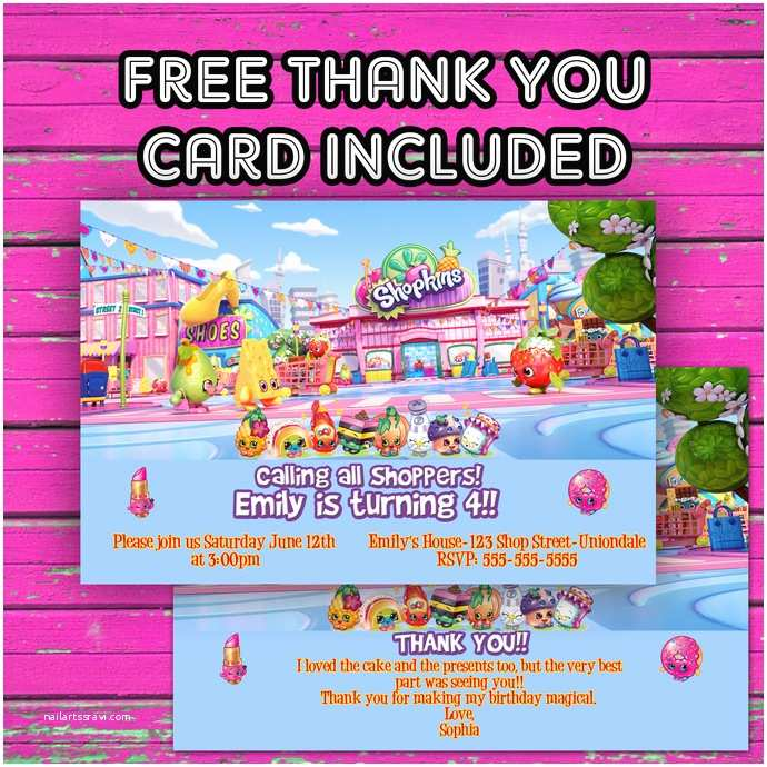 photograph regarding Shopkins Invitations Free Printable identify Shopkins Occasion Invites Shopkins Birthday Invitation Cost-free