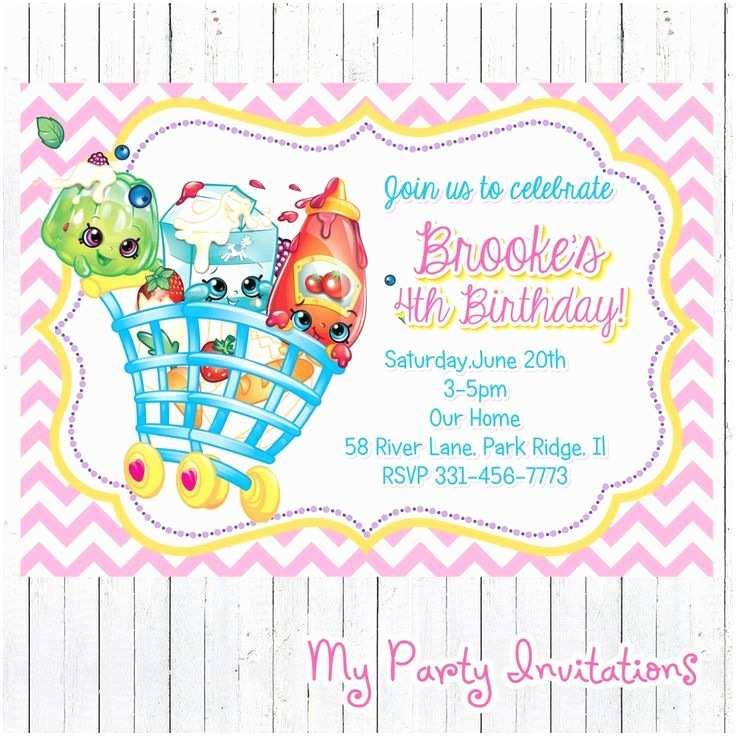 Shopkins Party Invitations Shopkins Birthday Invitation Printable Shopkins Birthday
