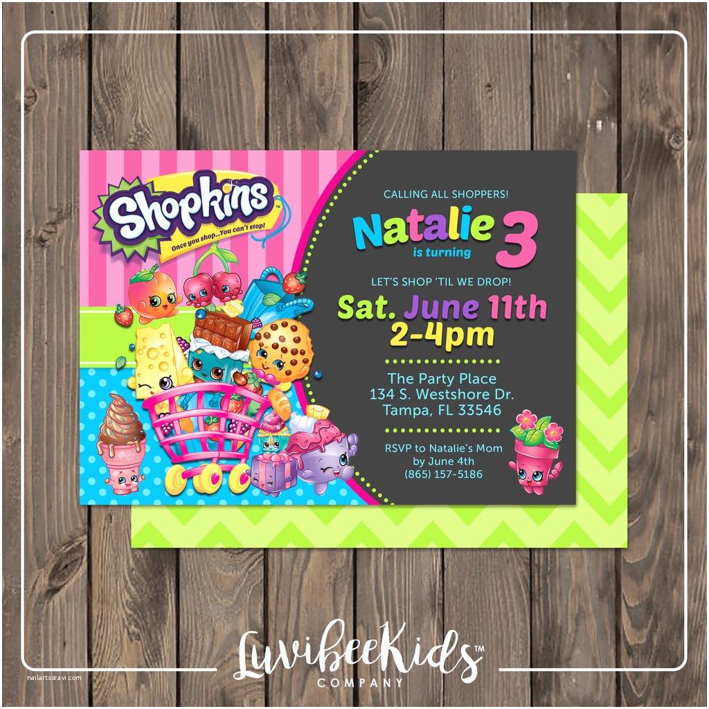 Shopkins Party Invitations Shopkins Invitation