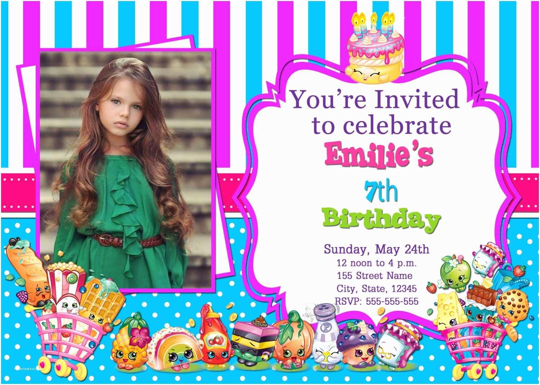 shopkins photo invitations shopkins
