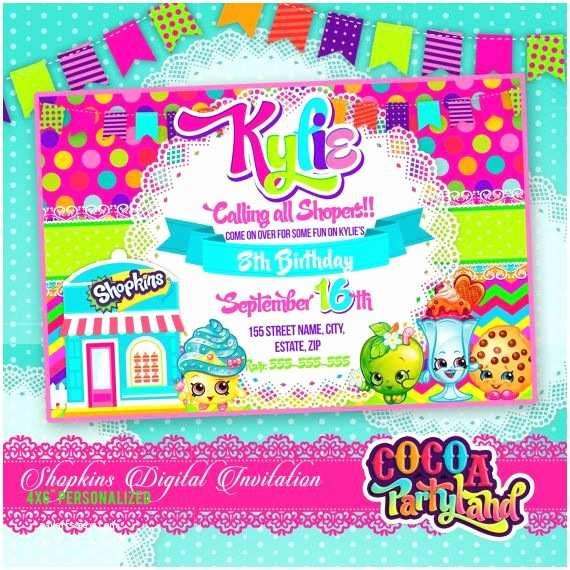 Shopkins Party Invitations Birthday Invitation Free