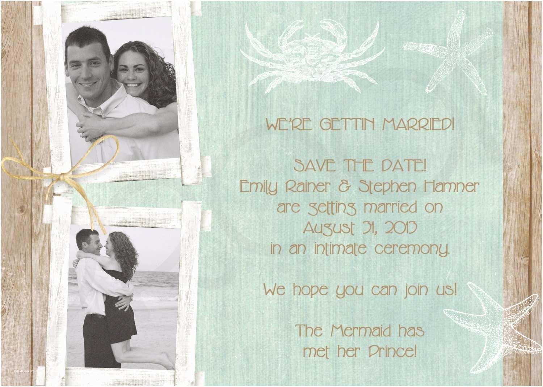 beach wedding invitation beach save the