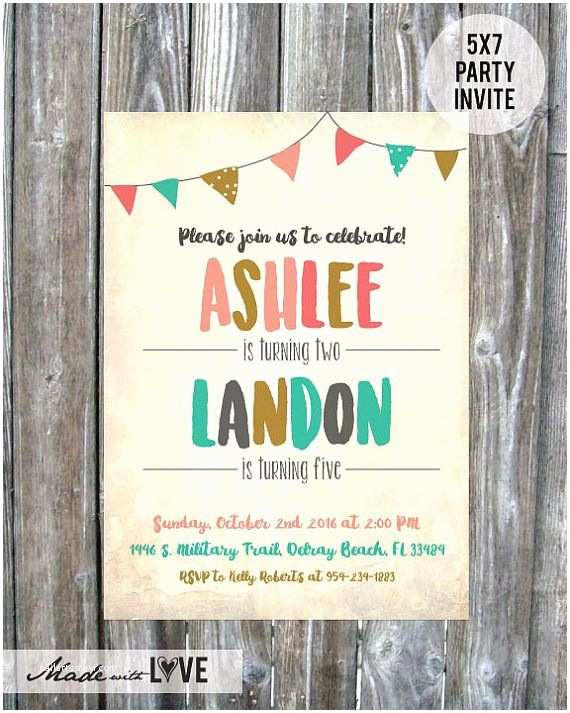 Sibling Birthday Party Invitations Best 25 Joint Birthday Parties Ideas On Pinterest