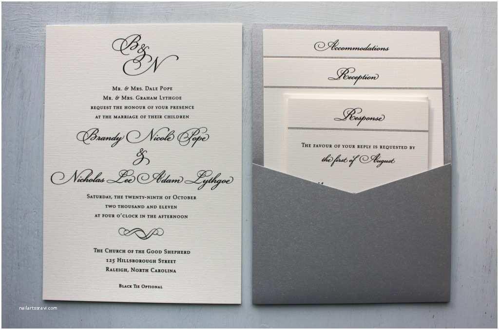 Silver Wedding Invitations Magnificent Silver Wedding Invitations