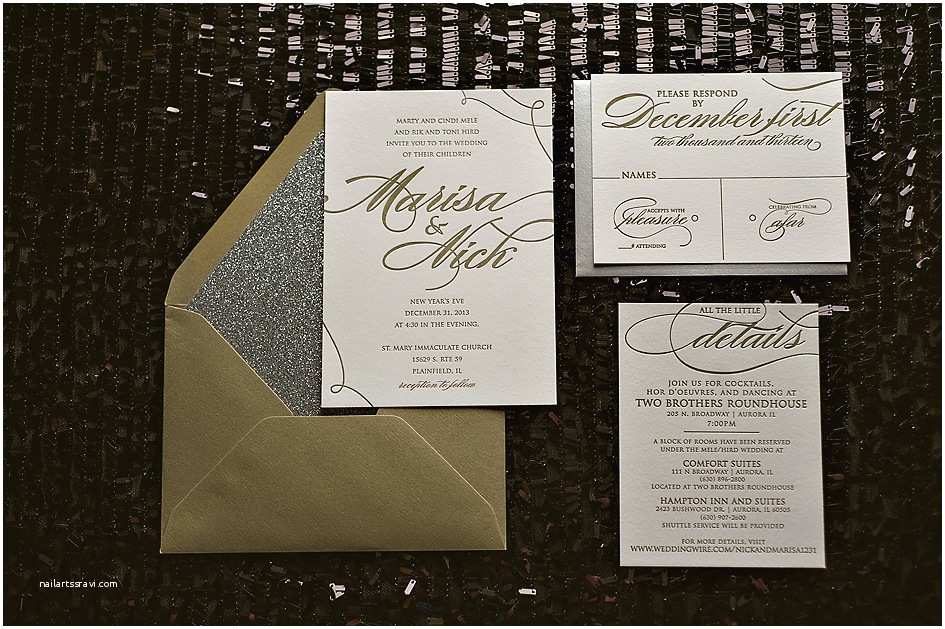 Silver Wedding Invitations Real Wedding Marisa and Nick