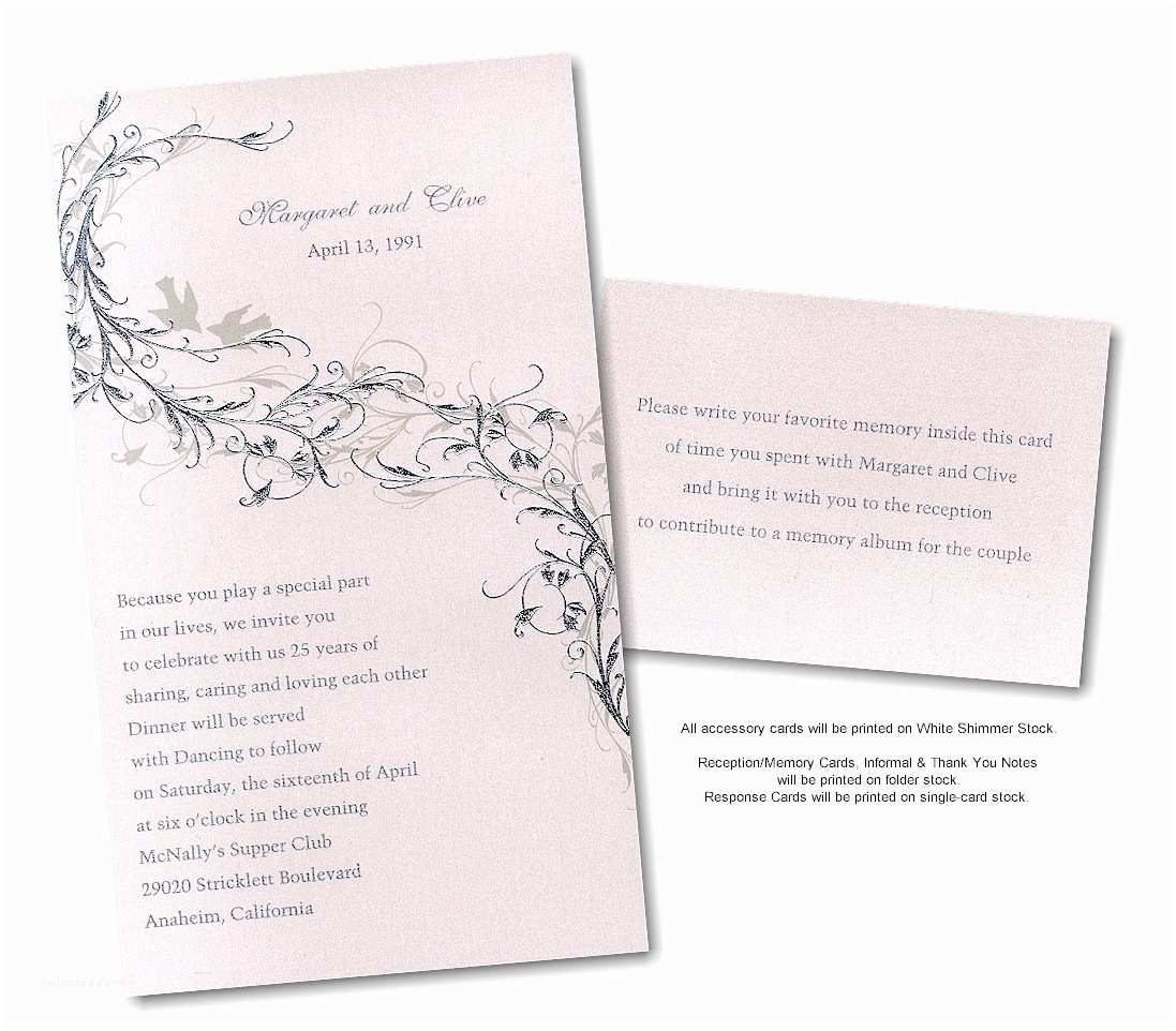 Silver Wedding Invitations Wedding Anniversary Invitation Card Ideas Emuroom