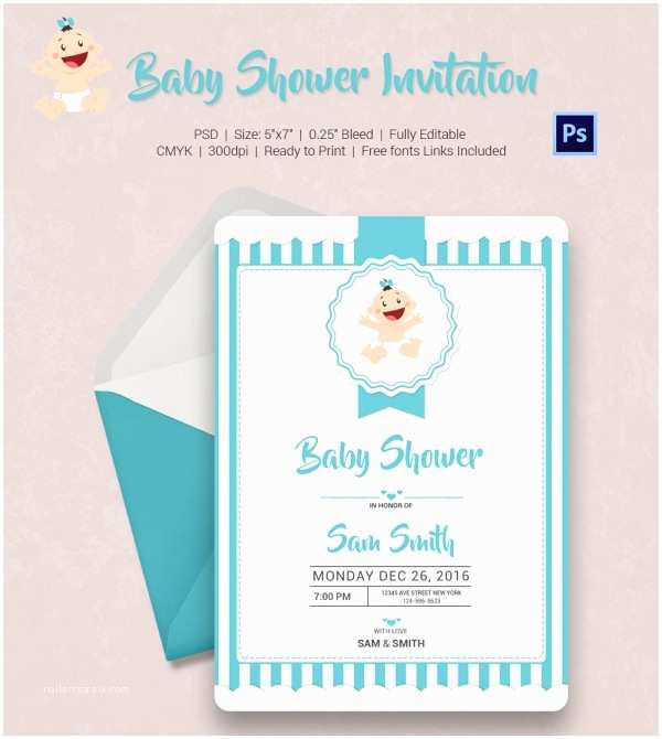 Simple Baby Shower Invitations Baby Shower Invitation Template 22 Free Psd Vector Eps