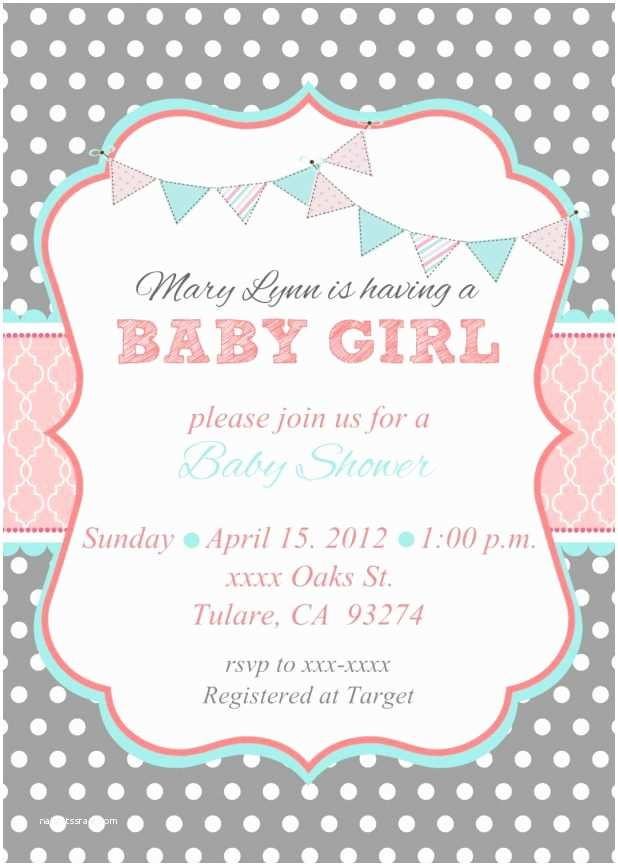 Simple Baby Shower Invitations Baby Shower Invitation Wording for A Girl