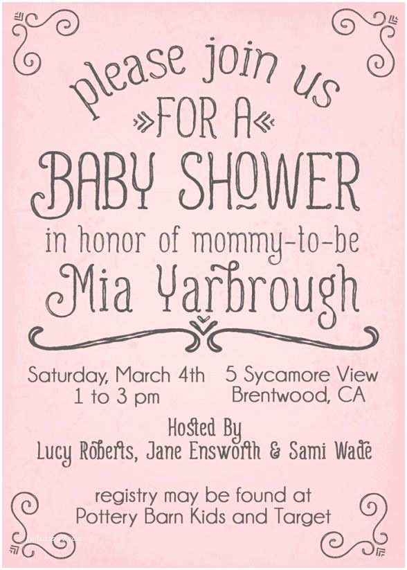 Simple Baby Shower Invitations Best 25 Baby Shower Invites for Girl Ideas On Pinterest