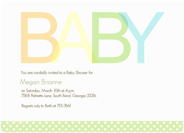 Simple Baby Shower Invitations Elephant Invitations Baby Shower
