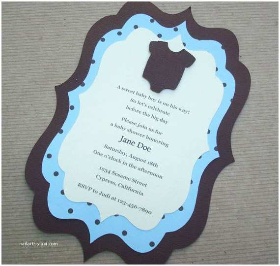 Simple Baby Shower Invitations Handmade Baby Shower Invitations