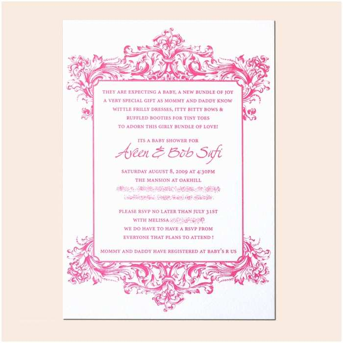 Simple Baby Shower Invitations Simple Baby Shower Invitation Wording