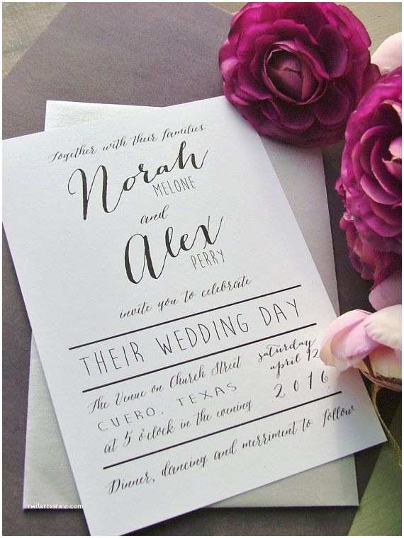 Simple Elegant Wedding Invitations Classy Example Of Wedding Invitation Cards
