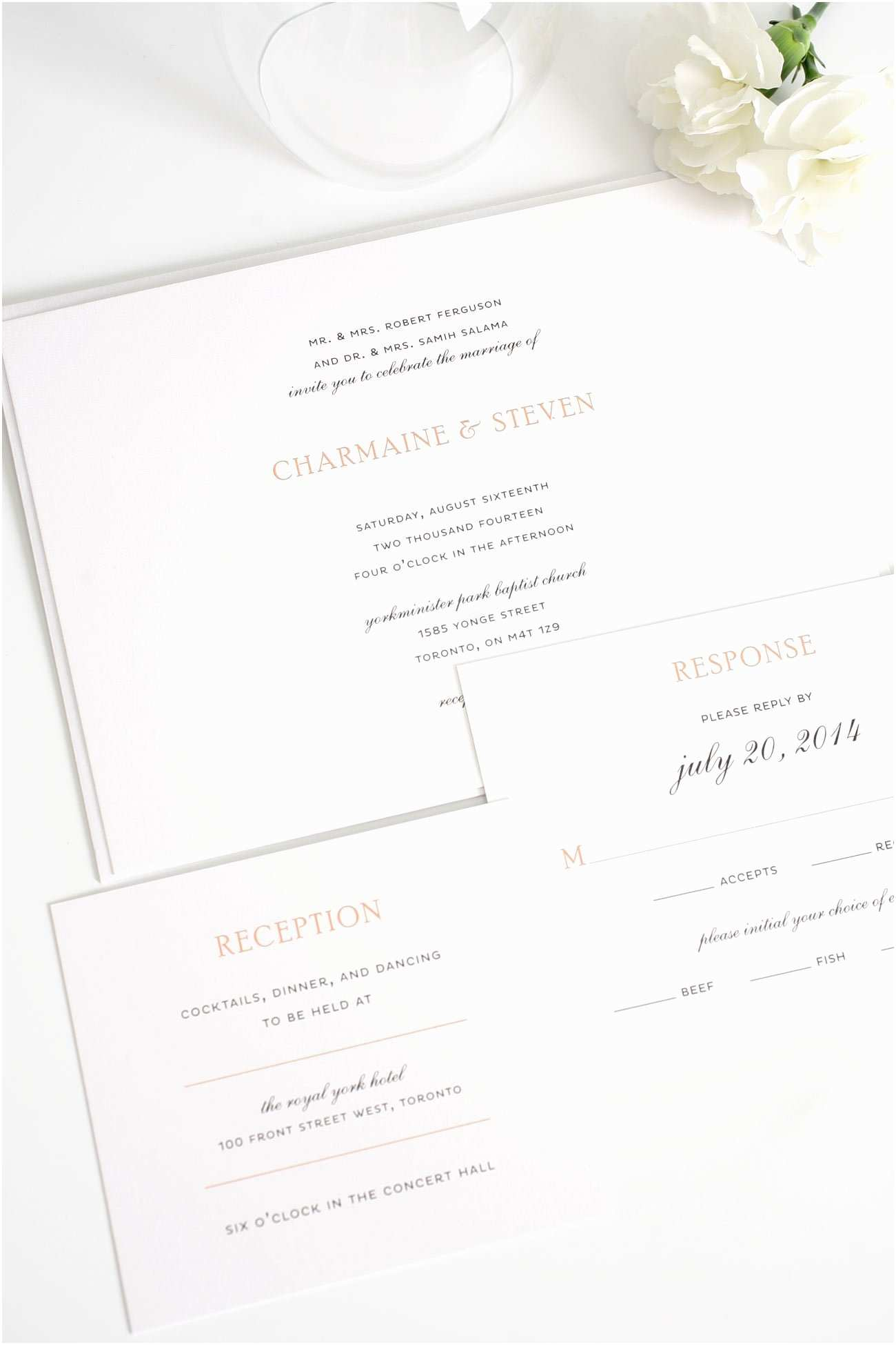 Simple Elegant Wedding Invitations Elegant Wedding Invitations In Peach – Wedding Invitations
