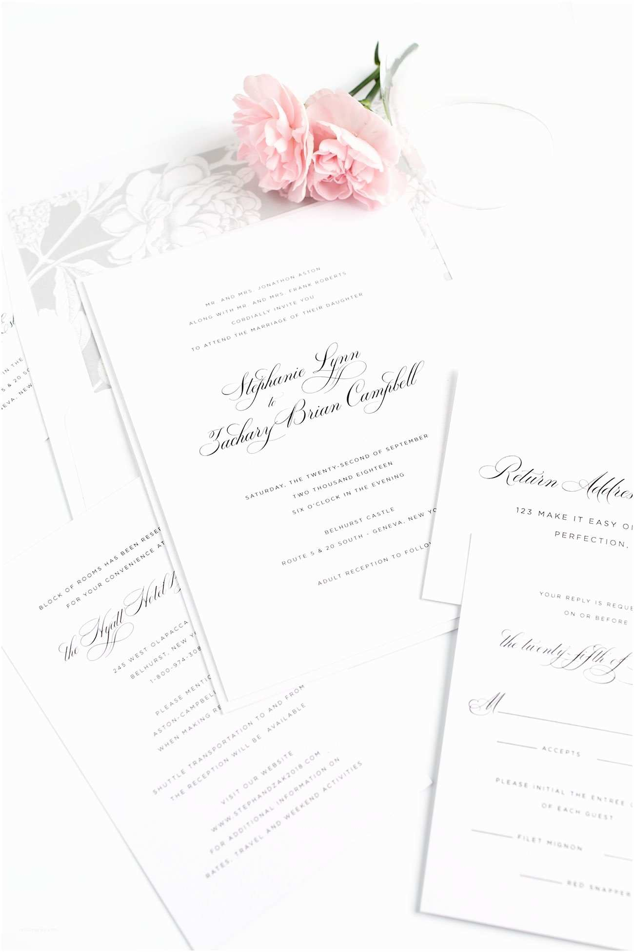 Simple Elegant Wedding Invitations Elegant Wedding Invitations In Silver – Wedding Invitations