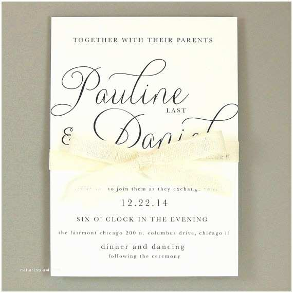 Simple Elegant Wedding Invitations Pauline Suite Modern Elegant Wedding Invitation