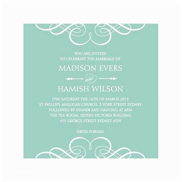 Simple Elegant Wedding Invitations Simple & Elegant Wedding Invitation