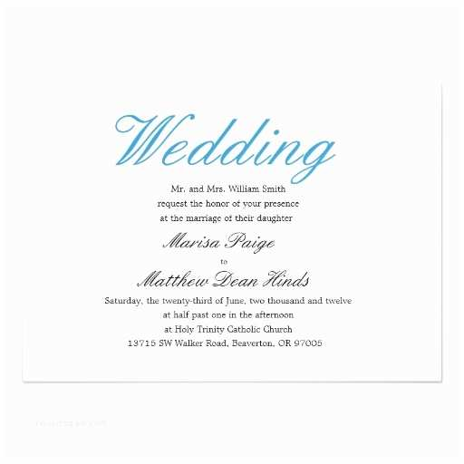 "Simple Elegant Wedding Invitations Simple and Elegant Wedding Invitation 5"" X 7"" Invitation"