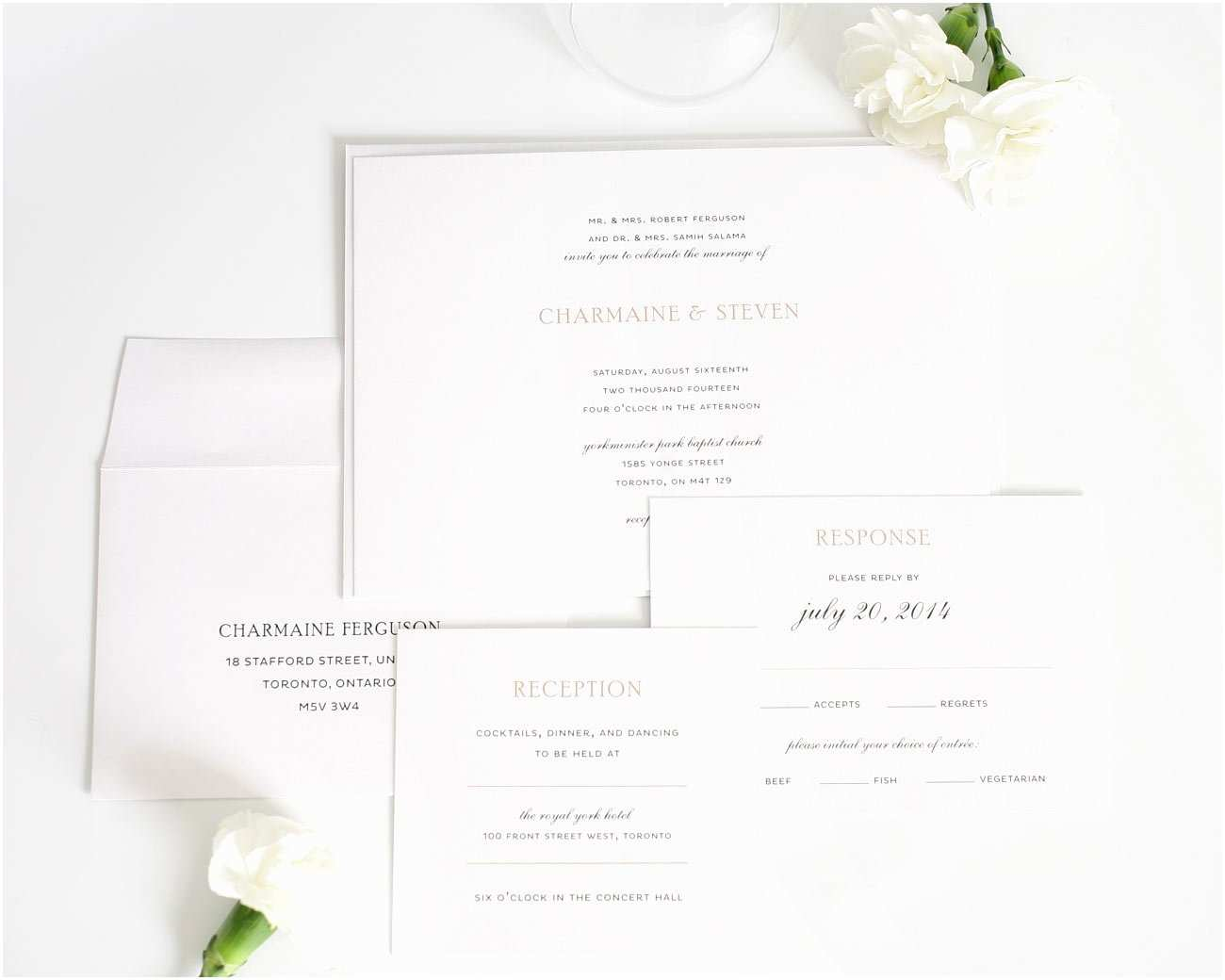 Simple Elegant Wedding Invitations Simple Elegance