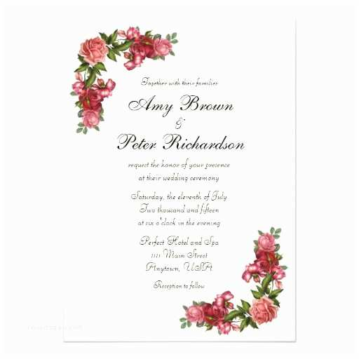 Simple Elegant Wedding Invitations Simple Elegant Floral Wedding Invitation