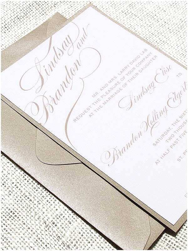 Simple Elegant Wedding Invitations Simple Elegant Wedding Invitation Wedding