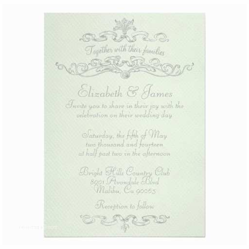 "Simple Elegant Wedding Invitations Simple Elegant Wedding Invitations 5"" X 7"" Invitation Card"