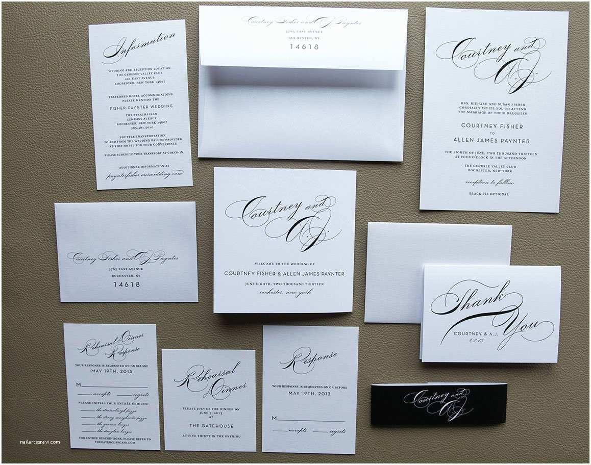 Simple Elegant Wedding Invitations Simple Wedding Invitation Package with Tammy Swales
