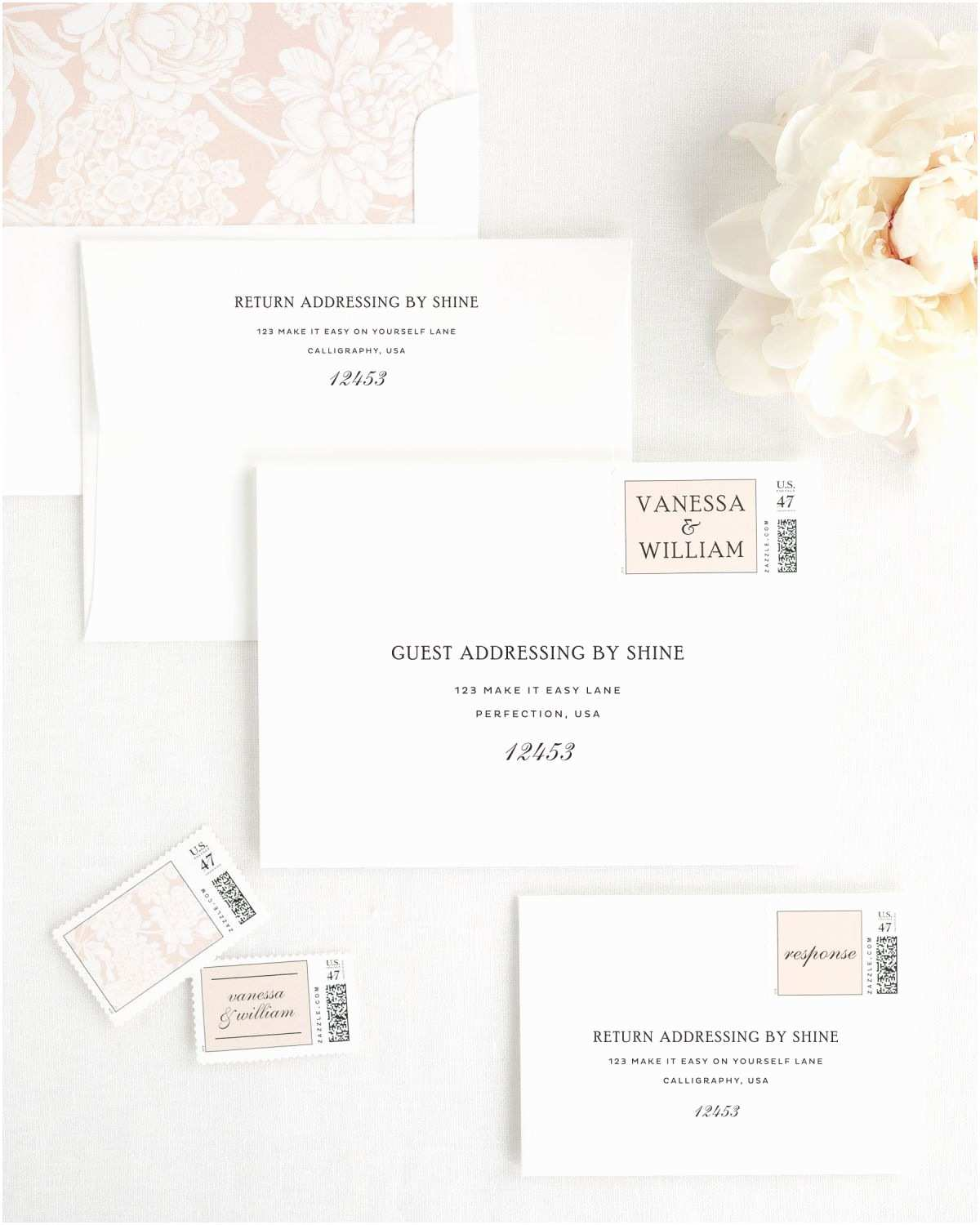 Simple Elegant Wedding Invitations Simple Wedding Invitations In Black and White Wedding