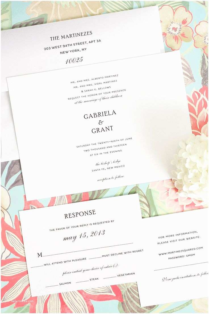 Simple Elegant Wedding Invitations Simple Wedding Invitations