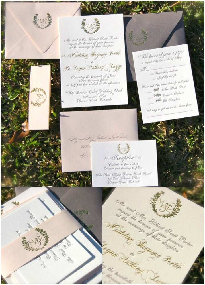 Simple Monogram Wedding Invitations 10 Foil Wedding Invitations to Impress Your Guests
