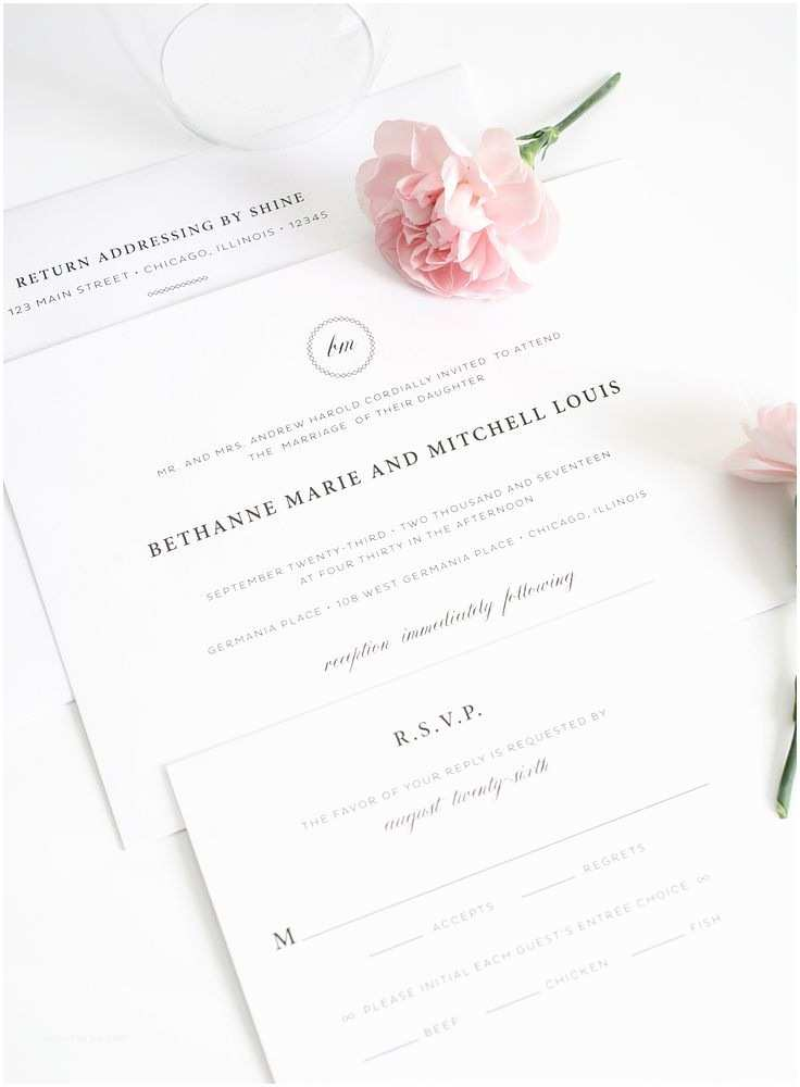 Simple Monogram Wedding Invitations Elegant Wedding Invitations with A Monogram