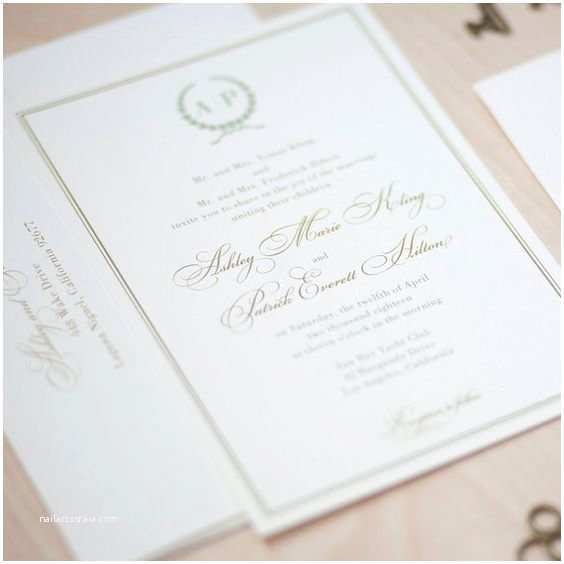 Simple Monogram Wedding Invitations Initials Up top In A Simple yet Pretty Way Monogram