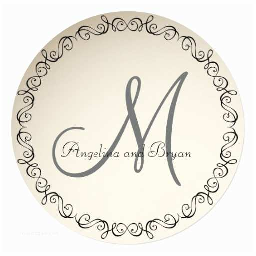 Simple Monogram Wedding Invitations Monogram Names Simple Wedding Invitation
