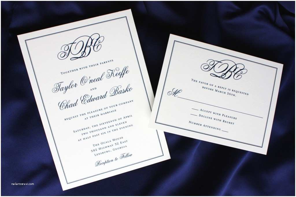 Simple Monogram Wedding Invitations Monogrammed Wedding Invitations Monogram Archives Fill Out
