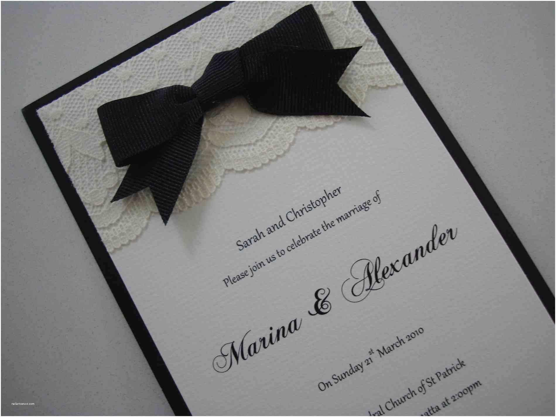 Simple Monogram Wedding Invitations Simple Black and White Wedding Invitations Abigail