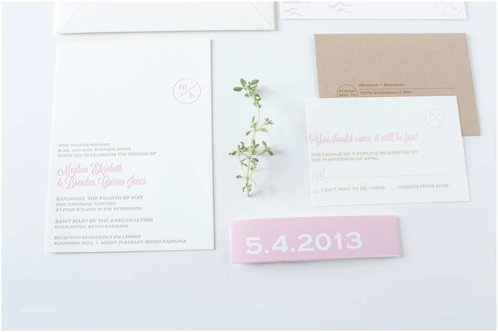 Simple Monogram Wedding Invitations Simple Modern Monogram Wedding Invitation
