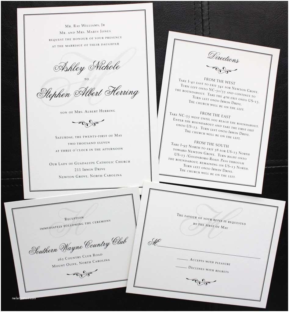 Simple Monogram Wedding Invitations Simple Wedding Invitation Wording Yaseen for