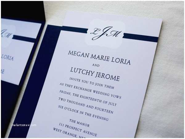 Simple Monogram Wedding Invitations Wedding Whitelemondesigns Blog