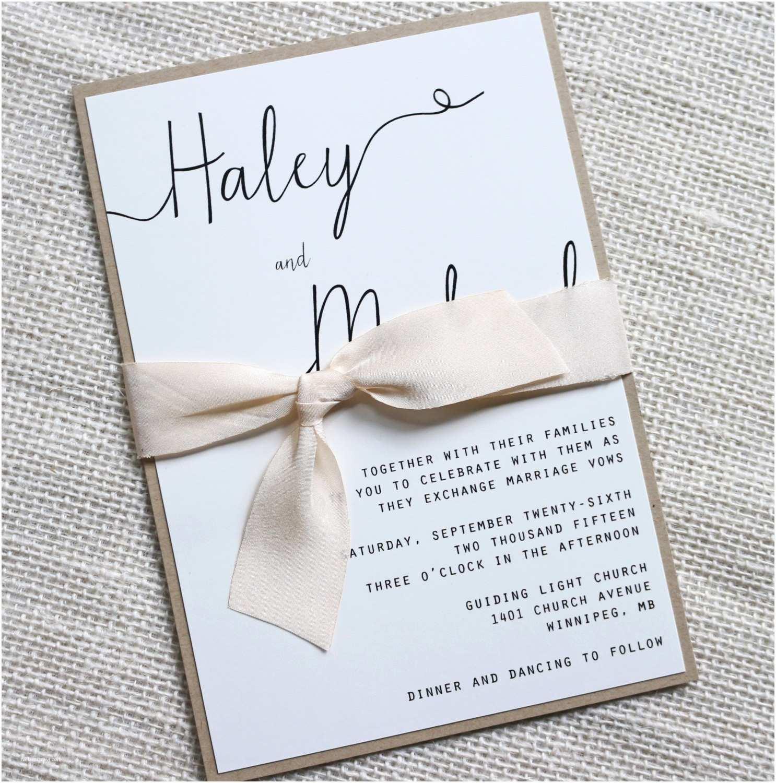 Simple Wedding Invitation Designs Modern Wedding Invitation Simple Wedding Invitation Rustic