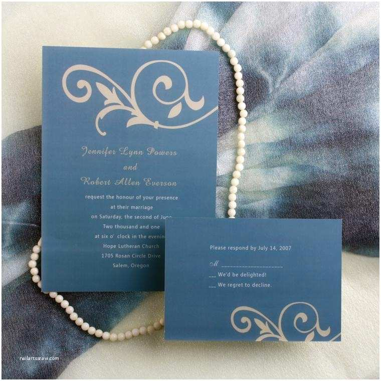 Simple Wedding Invitation Designs Simple Floral Blue Wedding Invitations Ewi033 as Low as $0
