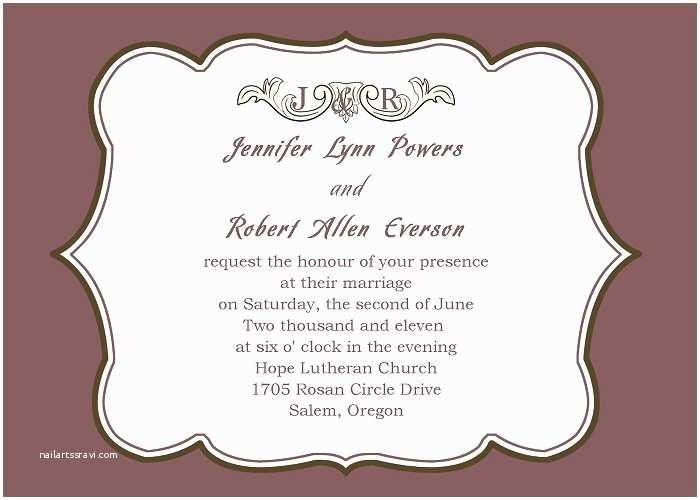 Simple Wedding Invitation Wording Simple Wedding Invitation Wording
