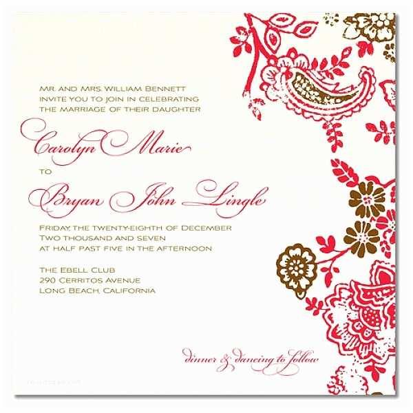 Simple Wedding Invitation Wording Simple Wedding Invitation Wording Sample Inspiration