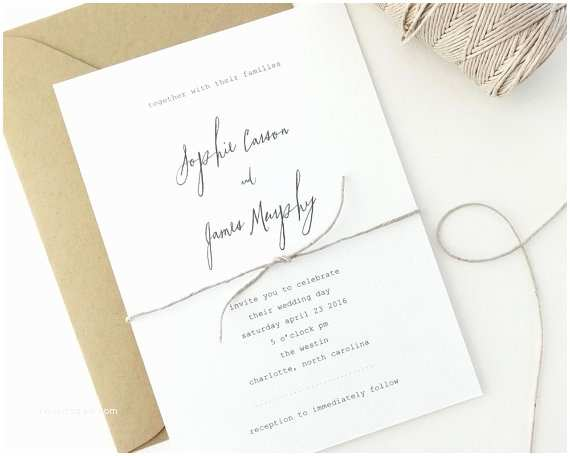 Simple Wedding Invitations 18 Simple Inexpensive Wedding Invitations — the