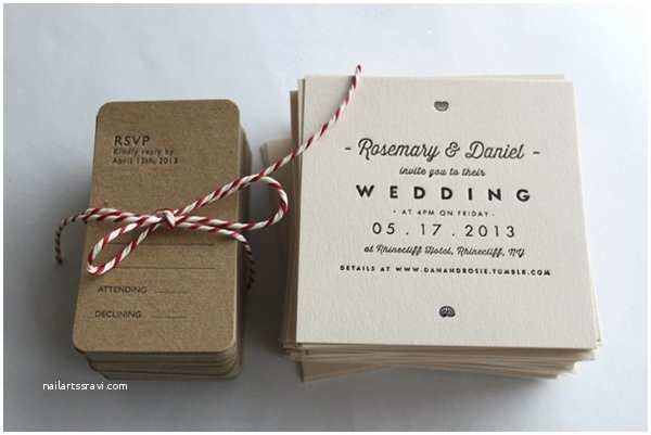 Simple Wedding Invitations Modern & Simple Wedding Invitations