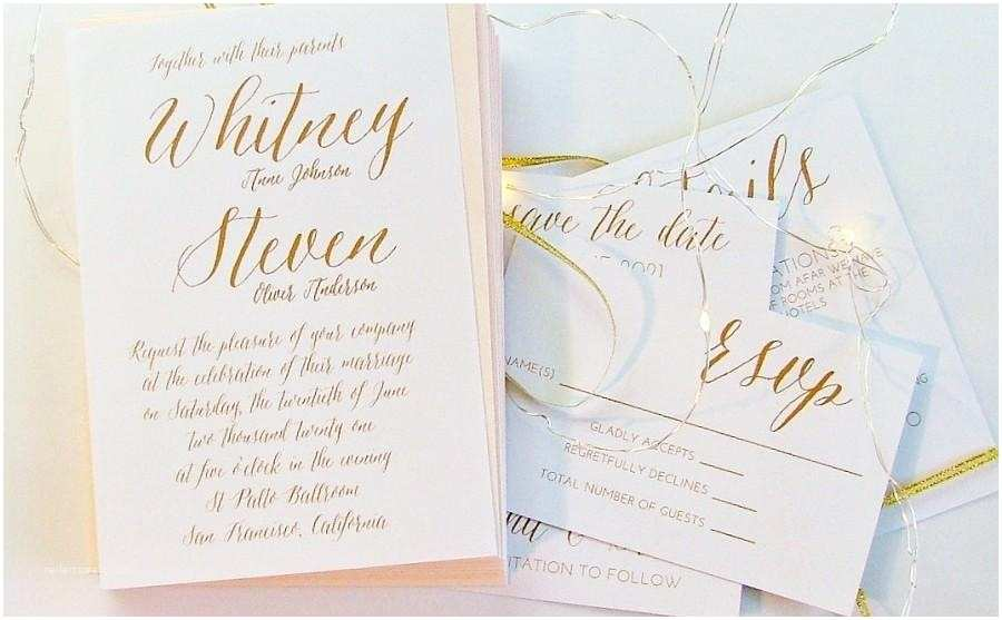 Simple Wedding Invitations Simple Wedding Invitation Gold Wedding Invitations 5