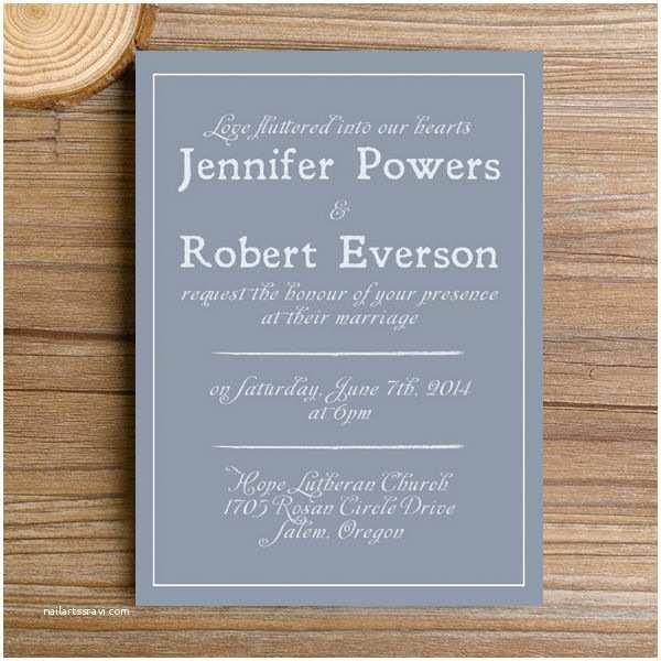 Simple Wedding Reception Invitations Modern Dusty Blue Simple Wedding Invitations Ewi384 as Low