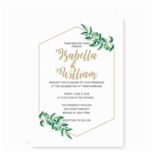 Simple Wedding Reception Invitations Printable Modern Simple Wedding Invitation Wip057