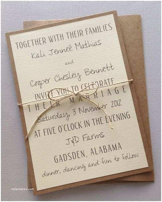 Simple Wedding Reception Invitations Rustic Modern Wedding Invitations