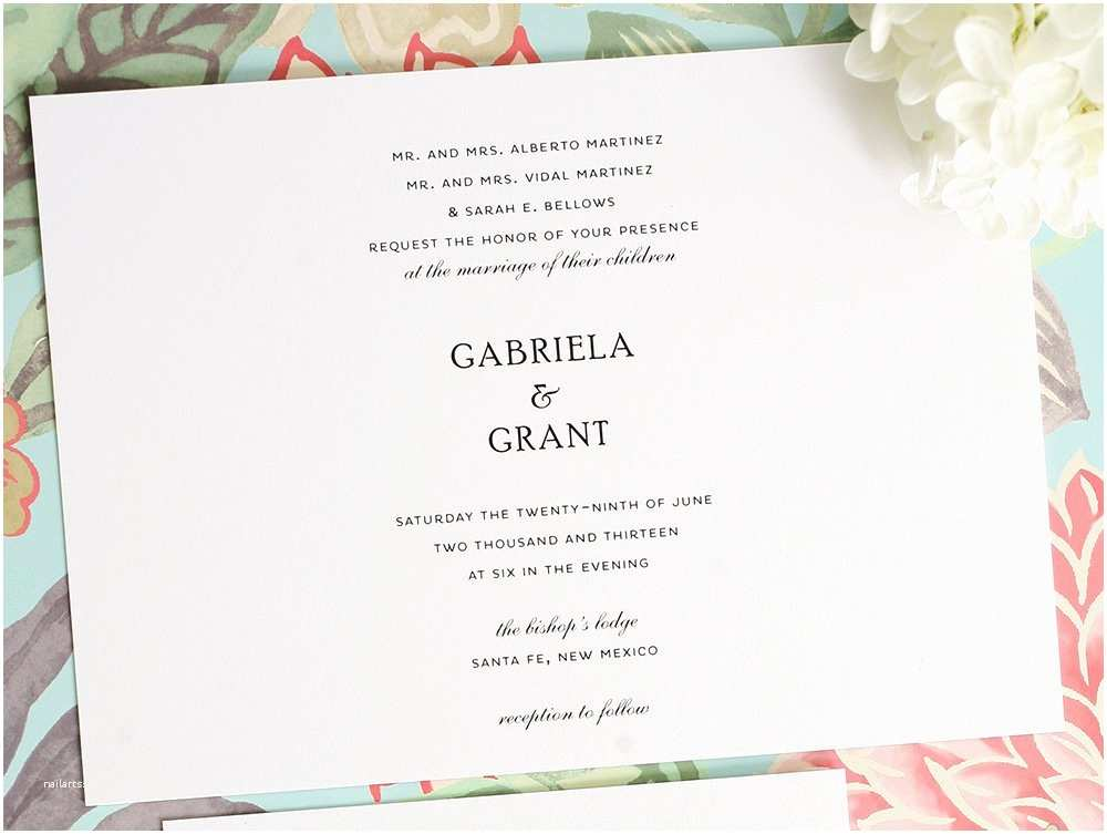 Simple Wedding Reception Invitations Simple Elegance – Page 2 – Wedding Invitations